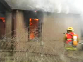 Fully Engulfed Home - 3-4 Second Burst - Only Steam Remains